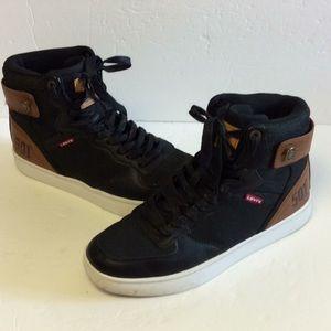 Levi's 501 Mens Hi Top Sneaker Shoes Sz 9.5